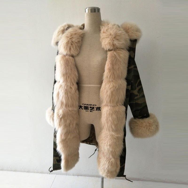 In Damenbekleidung 2016 Neue 0 Fell Armee Kaninchenfell Camouflage Pelz Aus Liner Kapuze Us450 Luxus Echtes Jacke Stil Fuchspelz 50Off Parka 8kwPOX0ZNn