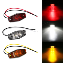 10Pcs 2LED Car Side Marker Lights Red Yellow White 12V 24V Trailer Truck Clearance Lamp