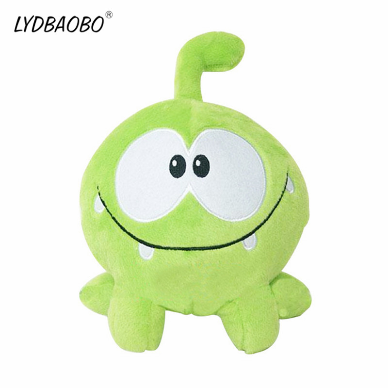 LYDBAOBO 1PC 20CM Green Frog Kawaii Om Nom Frog Plush Stuffed Cotton Soft Plush Rubber Cut The Rope Figure Toy  Children Gifts