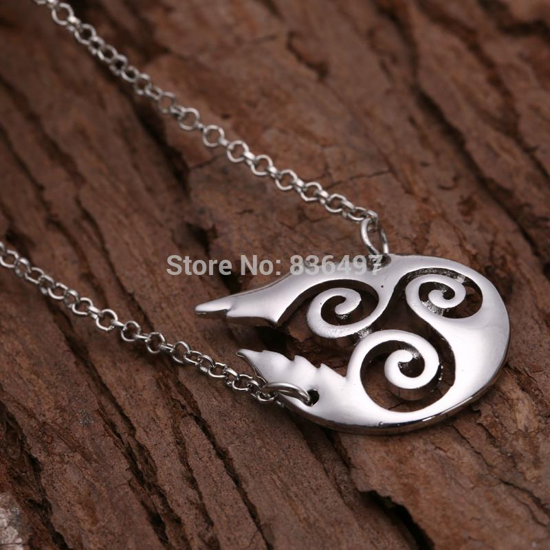 Teen Wolf Triskele Water Drop Symbols Necklaces For Women Xl523