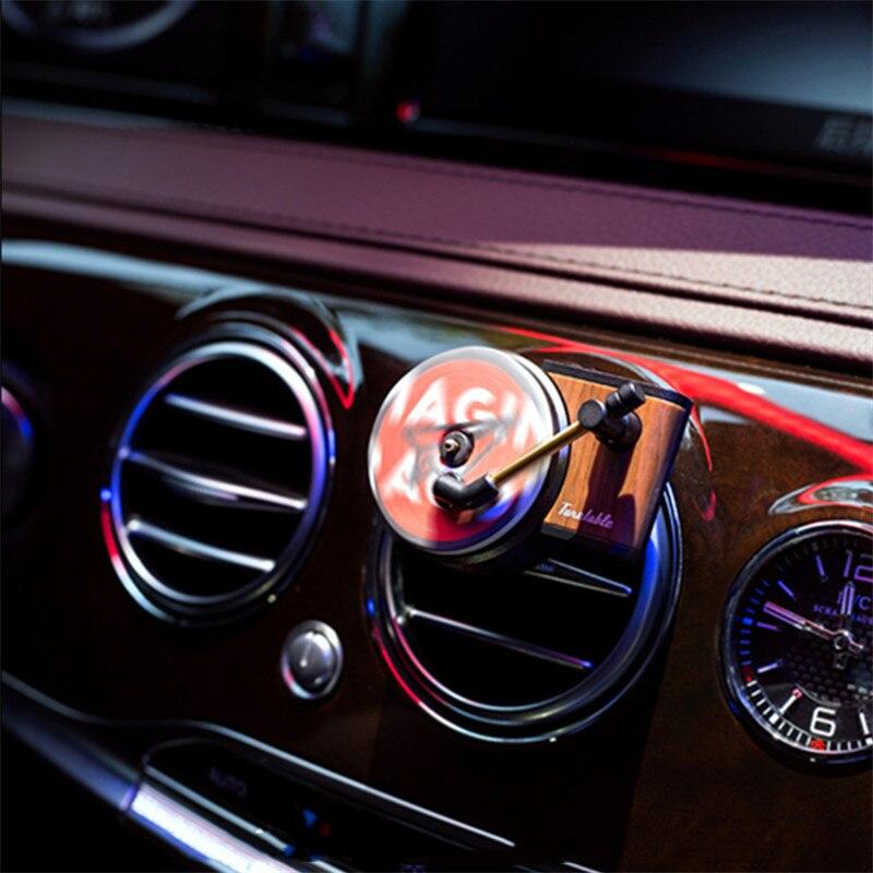 TITA Recorder Car Aromatherapy Turntable Car Air Freshener Air Vent Aromatherapy Aroma Car Perfume Diffuser