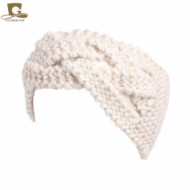 98f9ce8343ba73 Frauen winter Geflochten Twist Gestrickte Stirnband stricken Turban  Stirnband Ohr-wärmer