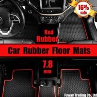 DHL Free Shipping Jimny Special Rubber Foot Trunk Mat Cross Country Pattern JImny Waterproof Pad Wear