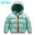 Chaquetas de invierno por la chaqueta de invierno de los nuevos niños de la muchacha hacia abajo niños y niñas bebé caliente grueso sólido con capucha chaqueta