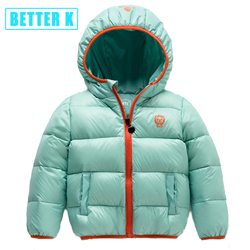 49b43c4d3fb8 winter new children s winter jackets down jacket for girl down jacket boys  and girls baby warm thick solid hooded jacket-in Down   Parkas from Mother    Kids