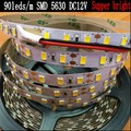 (Epistar) Super Bright 90leds/m SMD 5630 led strip light Flexible 5M 450 LED tape 5730 cold warm white DC 12V Non waterproof NEW