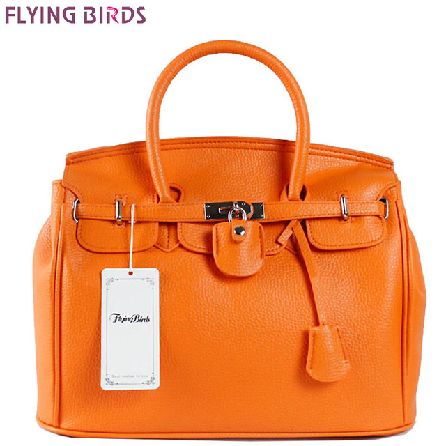 FLYING BIRDS! 2017 women leather handbags designer  Women handbag of brands bag Ladies Leather Bag free shipping bolsas HE002