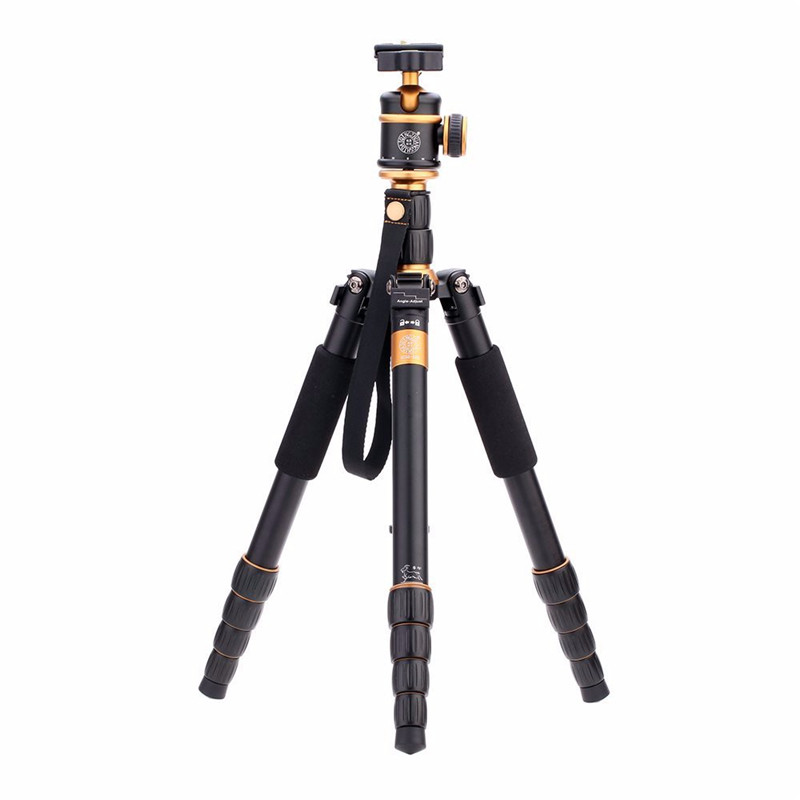 QZSD Q888 Pro Aluminum Alloy Monopod Tripod Portable Traveling Tripods Ball Head for Canon Nikon  DSLR Camera Tripe new qzsd q668 60 inch professional portable camera tripod for canon nikon sony dslr ball head monopod tripod stand loading 8kg