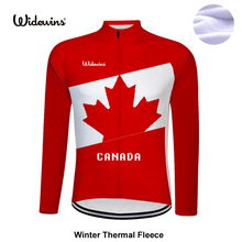 Long Winter Thermal Fleece canada high quality pro team cycling jersey long sleeve road mtb full gules bicycle clothes 8001