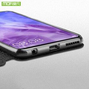 Image 5 - Para Huawei nova 3 funda para Huawei nova 3 funda de silicona nova 3 flip cuero Mofi para Huawei nova 3 funda 360 metal a prueba de golpes