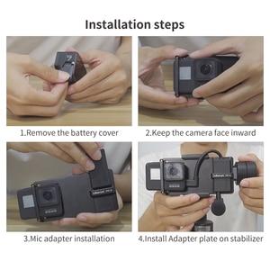 Image 5 - Ulanzi PT 6 Gopro Vlog plaque avec adaptateur micro pour 3 axes cardan Moza Mini S lisse 4 Vimble 2 Vlog boîtier métallique pour Gopro 7 6