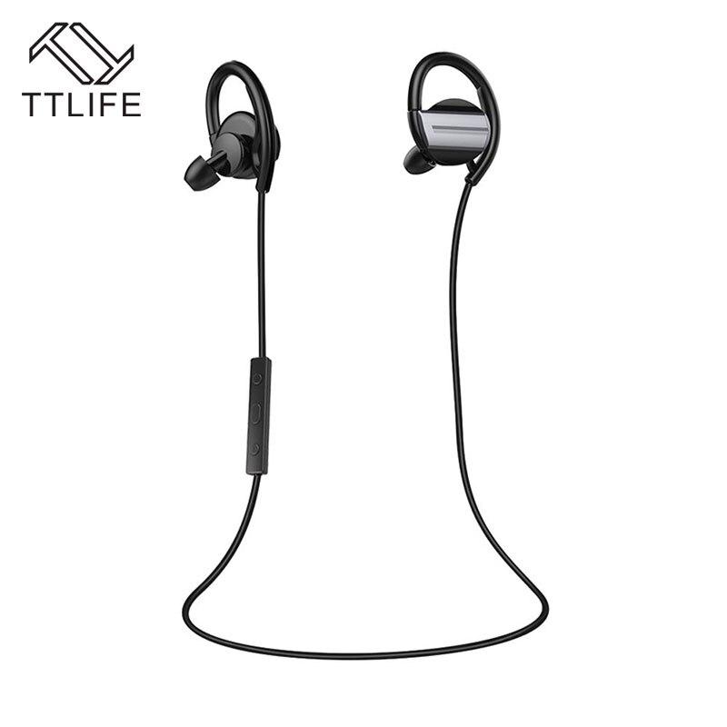 TTLIFE Bluetooth Sweatproof Headphones V4.1 Wireless Sports Stereo HIFI Earphones CVC6.0 Apt-x Headset for Phone Android