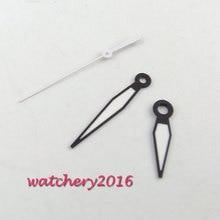 BRAND new black egde white watch hands Green luminous for mingzhu 2813 3804 miyota 8215 8205 movement Men's Watch Hands