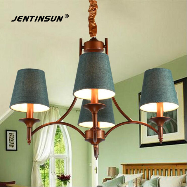 American Countryside Pastoral Iron Chanerlier Retro LED Lamp ...