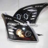 For TOYOTA for FJ120 LC120 Prado 2700/4000 LED head Lamp 2003 2009 year Black Housing