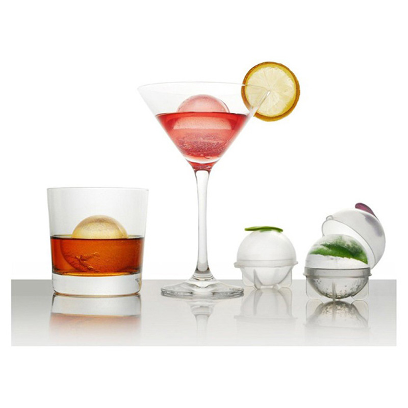 4pcs Ice Mold Whiskey Cocktail Ice Cube Ball Maker Individual DIY Ice Cube Transparent Ice Mold Home and Party Accessories