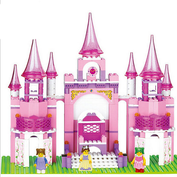 ФОТО Pink Dream Series Princess Castle Building Block set Princess figures Girls Educational Toy Gift Compatible with B0152