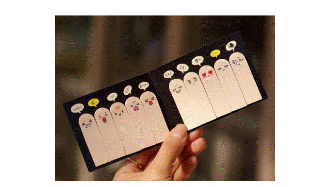 10 pz/lotto Finger sticky notes Post Rimovibile adesivo di carta cancelleria ufficio accessori per la scuola papeleria F711