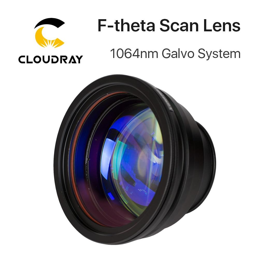 Lentille de champ de lentille de balayage de f-theta 1064nm 50x50-300x300 F63-420mm pour des pièces de Machine de marquage Laser de Fiber optique de 1064nm YAG