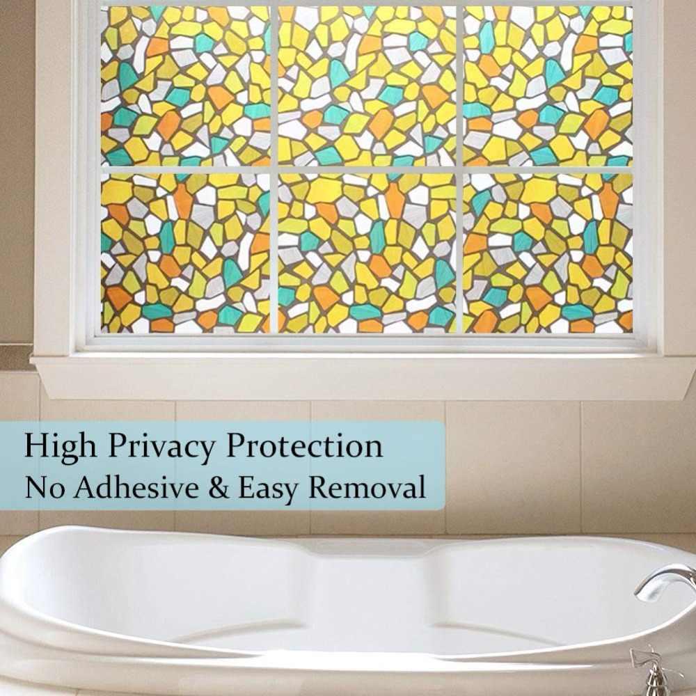 WXSHSH Privacy Glassato Pellicola Della Finestra, Senza Colla Elettricità Statica Pellicola di Vetro di Protezione UV di Controllo del Calore Riutilizzabili, perfettamente Decorare La Casa