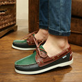 2017 Spring Autumn Fashion Casual Flat Men boat Shoes handwork Lace-up Uniex Round toe sneakers shoes