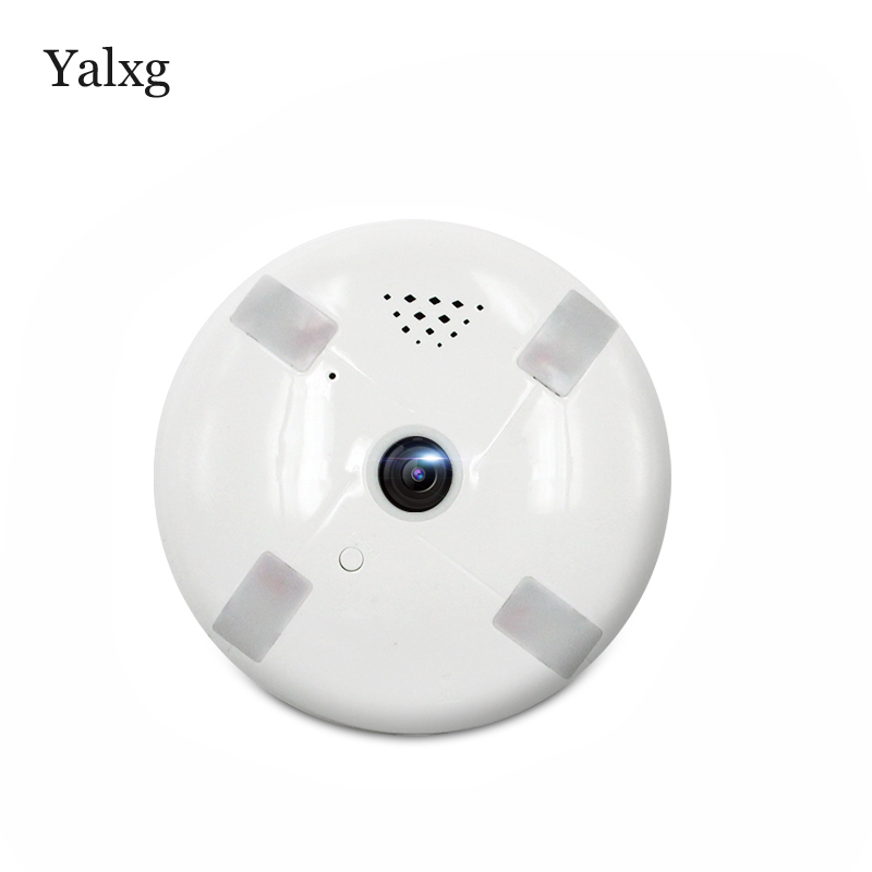 Yalxg Home Security H.264 Wi-fi 360 Degree 3D Panoramic IP 960P 1.3MP Camera Email photo Alarm Support Iphone os/Android Viewing