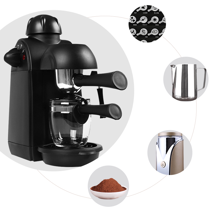 Coffee Machine Semi-automatic Italian Espresso Maker Milk Maker Cappuccino Coffee Maker Machine For Home Include the Accessories цена