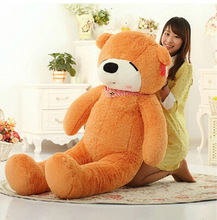 biggest lovely plush light brown teddy bear toy huge sleeping bear toy stuffed big teddy bear gift 200cm