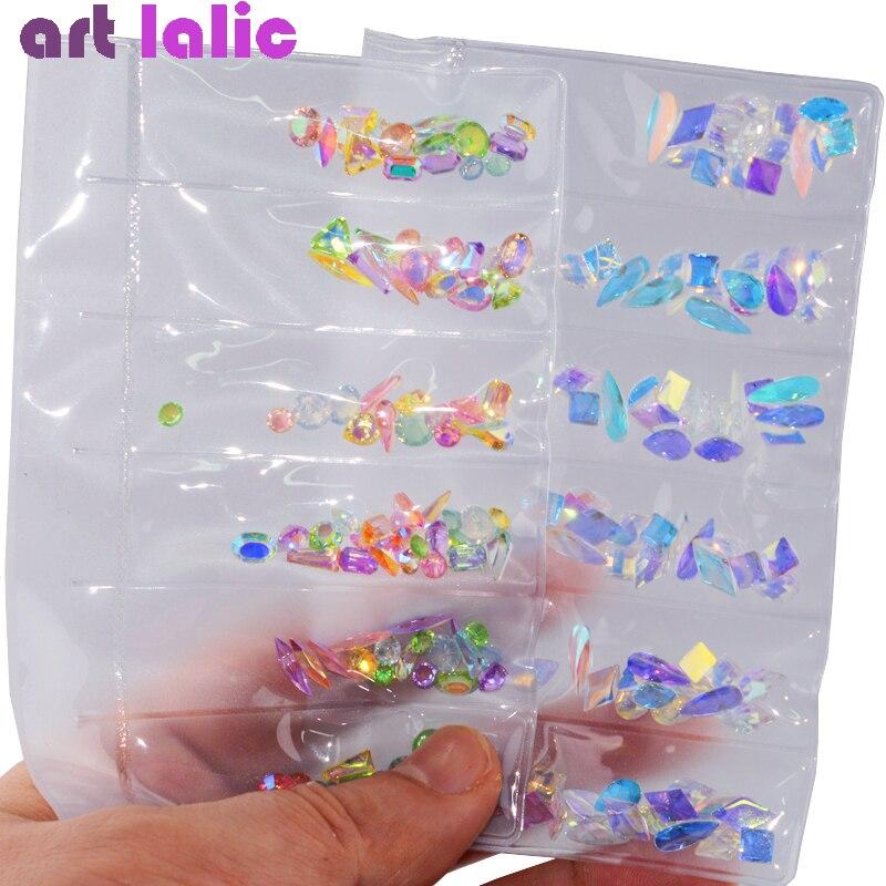 1 Pack AB Glass Nail Rhinestones Diamond Teardrop Horse Eye Crystals Stones Shiny Gems Manicure Nails Art Decorations