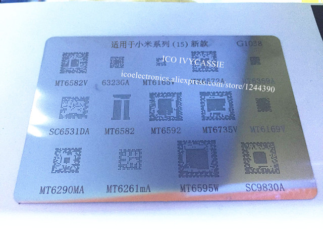 US $1 02 |For MT6582V 6323GA 6165V 6572A MT6369A SC6531DA Reballing BGA  Stencil MT6582 6592 6735V 6169V 6595W SC9830 Direct Heating Plate-in