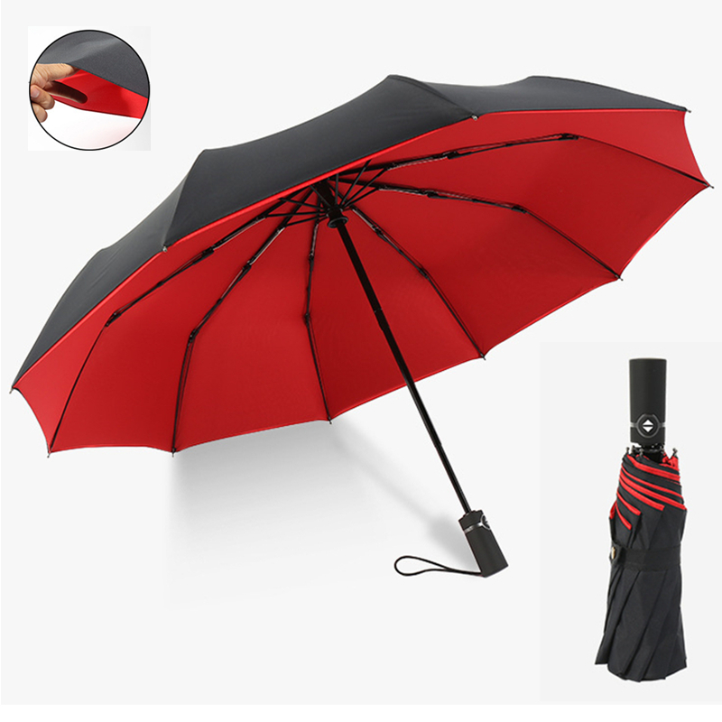 Color : Blue AZZ Classic Quality Windproof Handle Umbrella,Fast Drying Windproof Umbrella Reinforced Windproof Frame