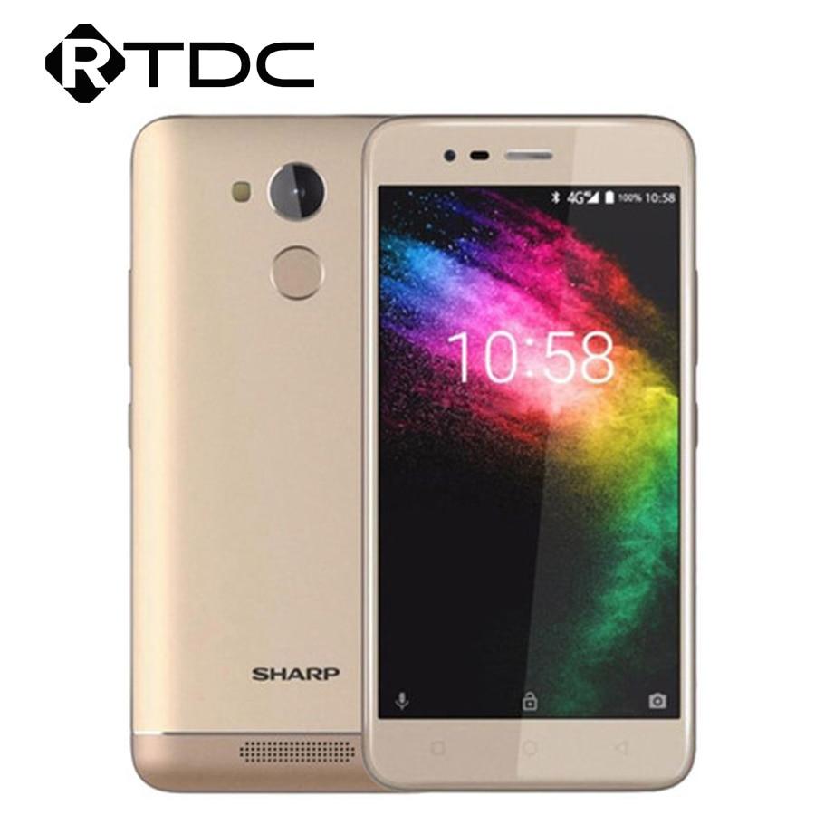Global Version SHARP R1 4G LTE 3GB RAM 32GB ROM Smartphone Quad Core 5.2'' 13MP + 8MP 4000mAh Big Battery Cell Phone
