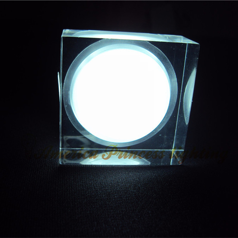Free shipping 10PCS/ lot 1W Acrylic Crystal Square Cabinet Light LED Downlight Ceiling AC110-240V, star lights