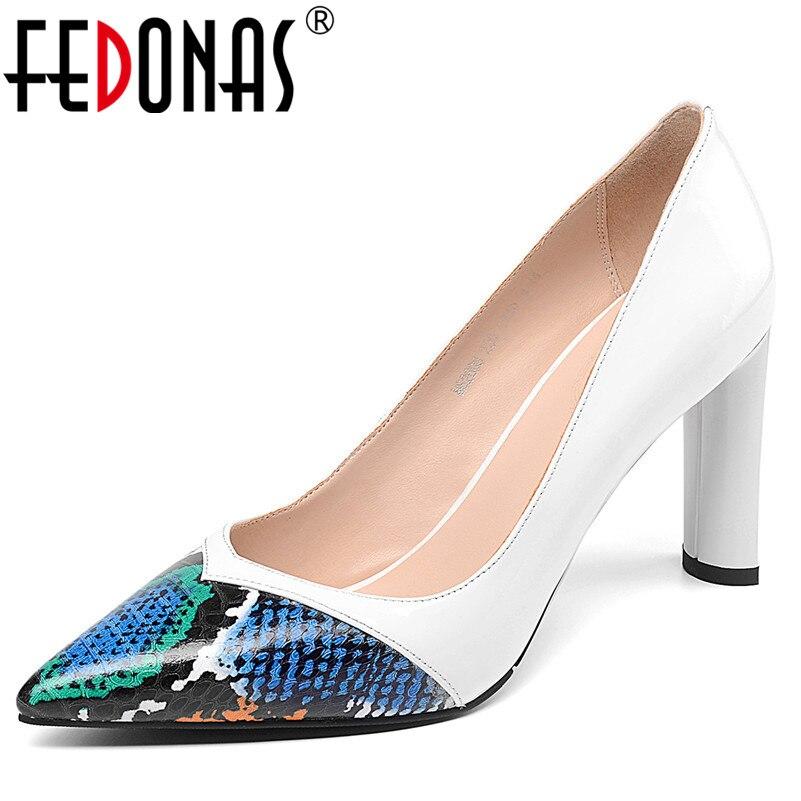 56684a992045a2 Base Hauts 1 Glissent Dames Talons Bout De Sexy Fedonas Pointu Mode  Chaussures Pompes Femmes D'été Fête Cuir Printemps En Véritable ...