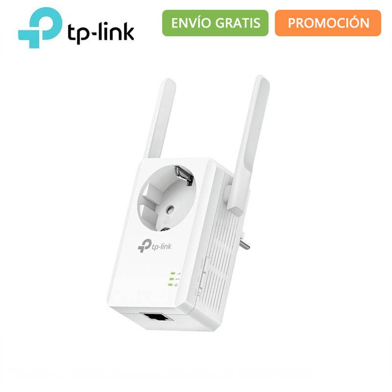 TP-LINK TL-WA860RE - WiFi Network Extender (N300 300 Mbps 2 Antennas Built-in Socket LAN Port WPS Fast Ethernet) White Com