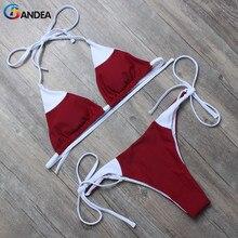 Bandea комплект бикини 2017 новый сексуальный купальник микро бикини марка женщины холтер купальники лоскутная купальный костюм мягкий biquini ha072