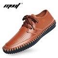 Super cool summer shoes men oxfords genuine leather men's shoes breathable cofmort causal shoes men flats