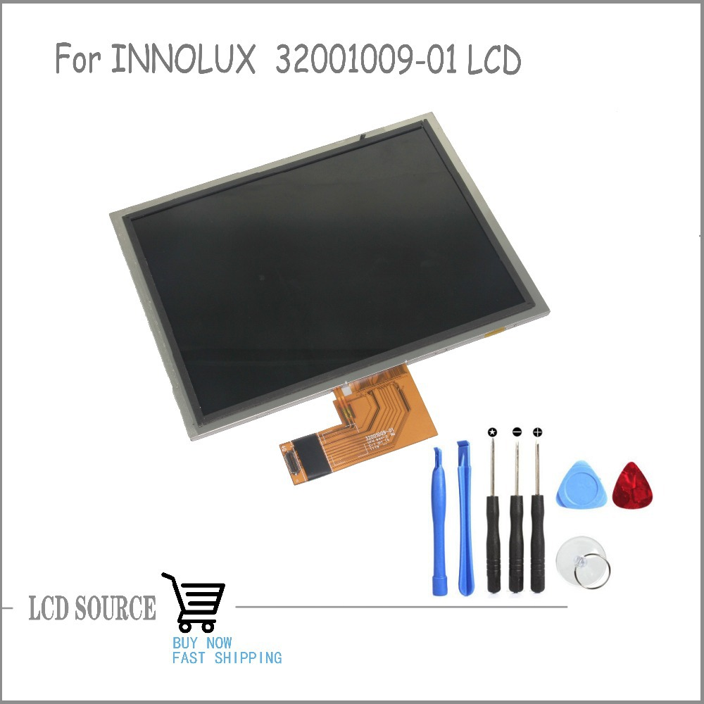 OEM 8 Inch For INNOLUX 32001009-01 TFT LCD Screen LCD Display Panel Glass Replacement Parts Free Tools