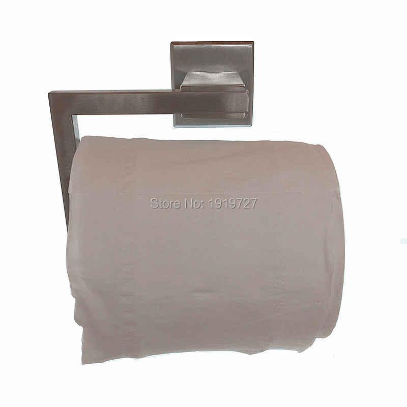 بقعة تقاوم sus 304 المرحاض تخزين المطبخ الحمام طقم منشفة ورقية الأنسجة لفة شماعات جدار جبل في ناعم إنهاء