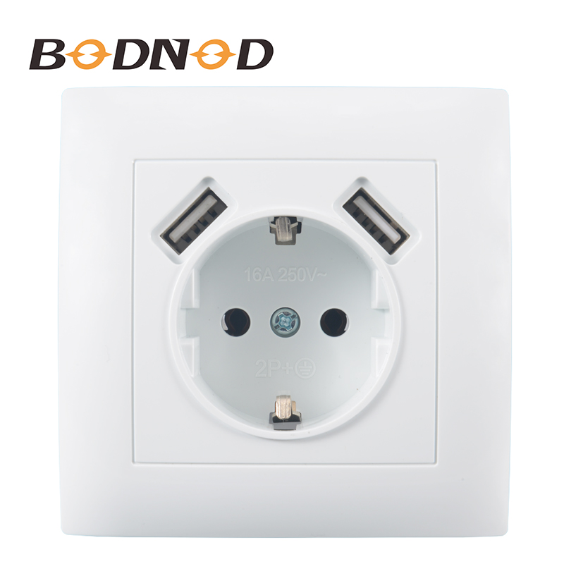 USB Wall Socket Double USB Port 5V 2A Free shipping Usb enchufes para pared livolo prise electrique prise usb murale LC-19
