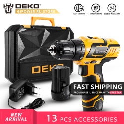 DEKO GCD10.8DU3 10.8V DC New Design Household Lithium-Ion Battery Cordless Drill DIY Electric Screwdriver LED Mini Power Drill