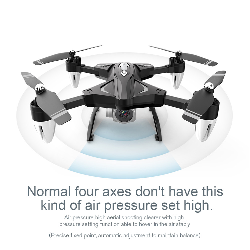 Portable Suitable Charging F69Pro 2.4G 5MP 1080P Wide Angle WIFI FPV HD Camera Foldable  RC Drone  Quadrocopt Helicopter-in RC Helicopters from Toys & Hobbies