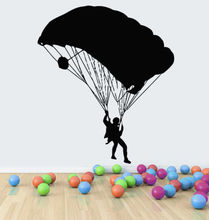 Free shipping diy Extreme Parachute Jump Sport Wall Sticker Home Decal Vinyl Decors Decoration Removable Stickers Mural Art
