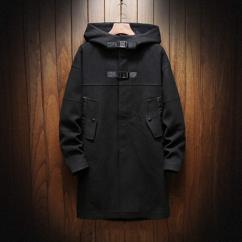 2018 autumn and winter New style Men's fashion casual Long style   trench   coat Men's Cotton hooded jackets men size M-5XL