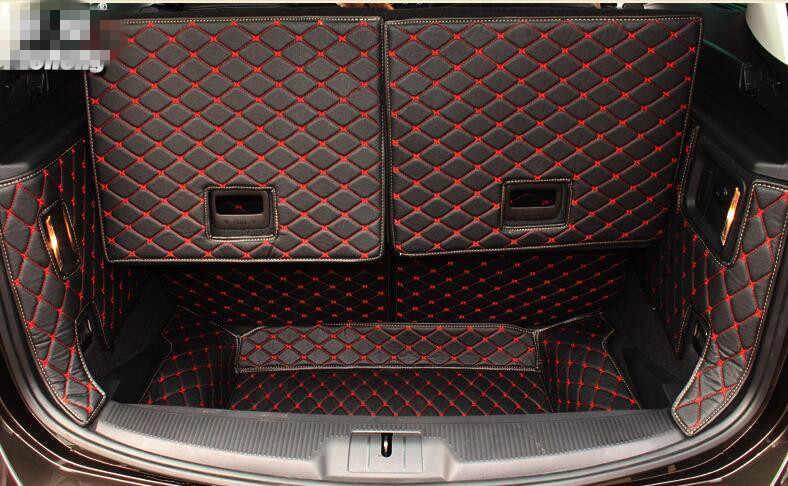 Hoge kwaliteit Speciale kofferbak matten voor Volkswagen Sharan 7 zetels 2017-2012 duurzaam cargo liner boot tapijten voor sharan 2015