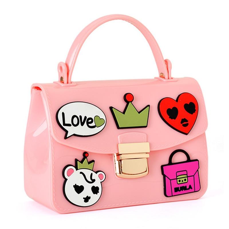 цена на Woman Bag Famous Brands Women Handbag Shining PU Jelly Bag Boutique Tote Candy Transparent Fashion Women Shoulder Bag Sac-16013