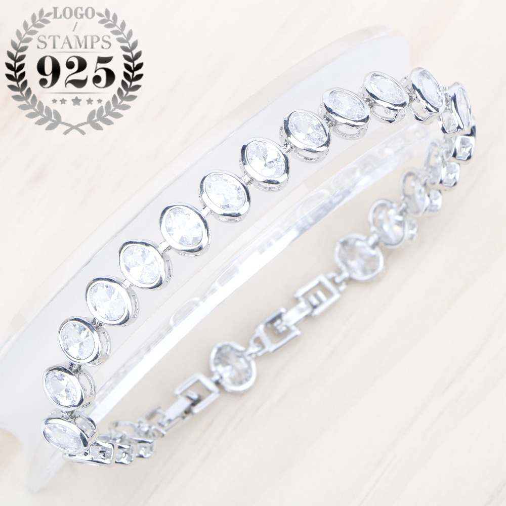 Trendy Bracelet Oval White...