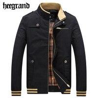 HEE GRAND 2017 Men S Casual Jacket Male Mandarin Collar Men Comfortable Slim Coat Jaqueta Masculina