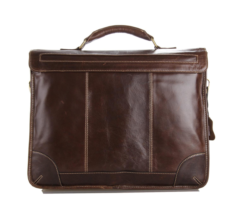 PASTE New Classic Vintage Leather Men s Chocolate Briefcase font b Laptop b font Bag Messenger