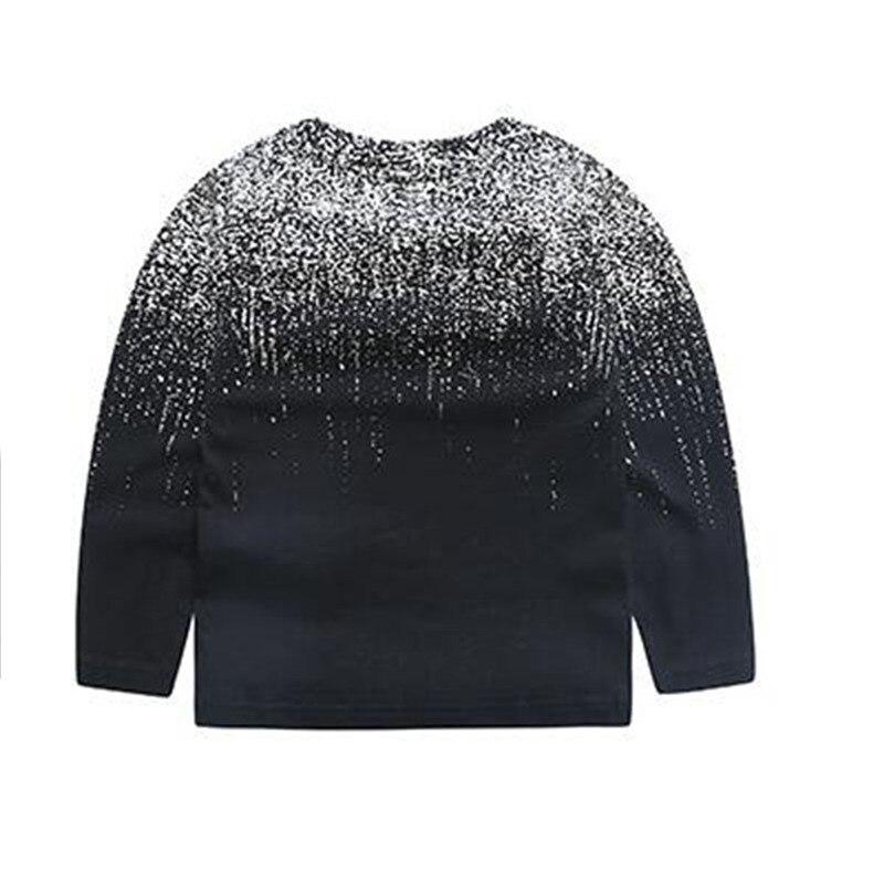 2017 marke Kinder Herbst Langarm Tops Jungen Kleidung Gestreiften Kinder T Shirts Für Junge Baby Boy T-shirts schwarz drucken